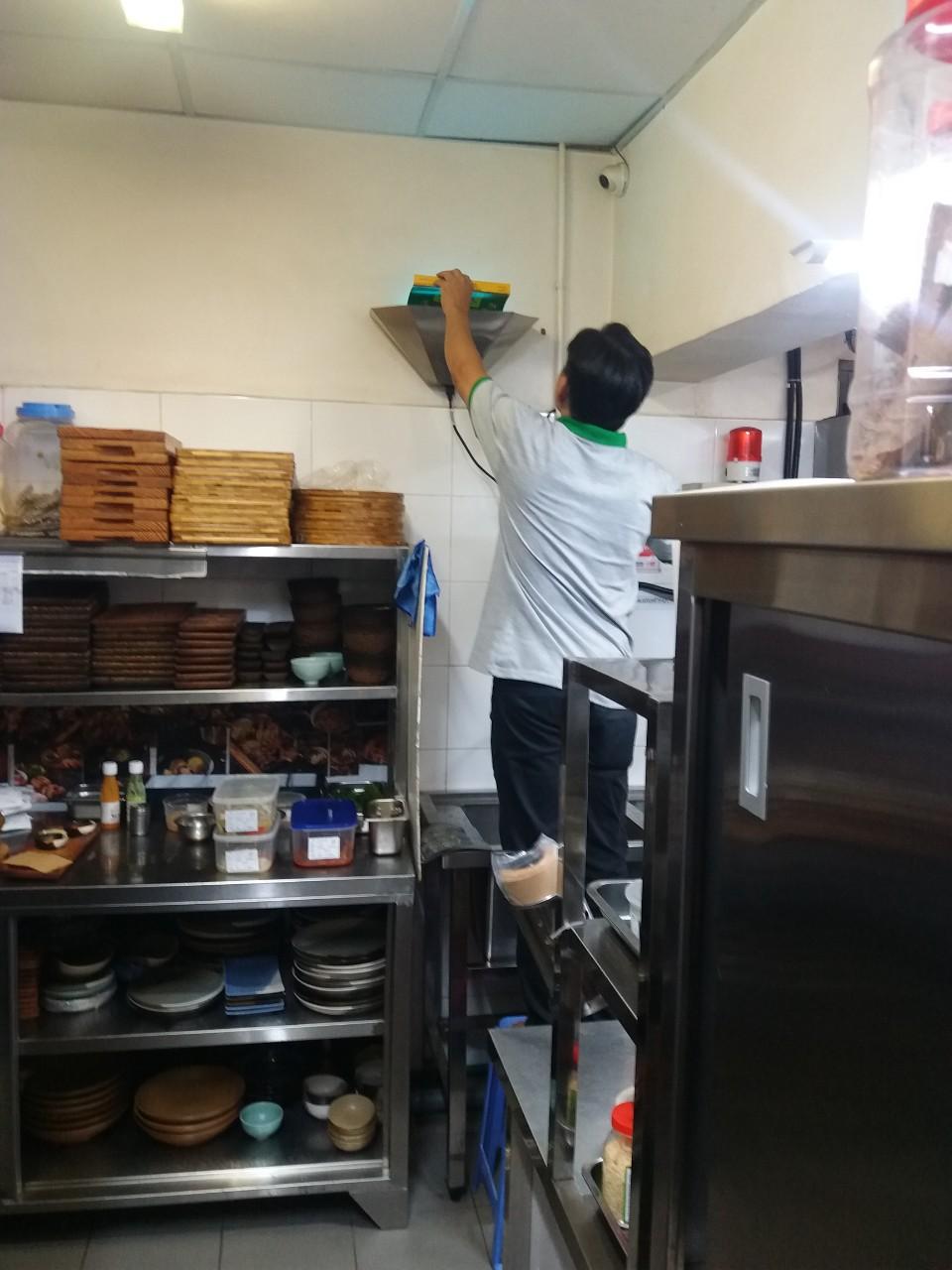 Hiệu quả sau khi diệt sạch côn trùng trong khu bếp nhà hàng